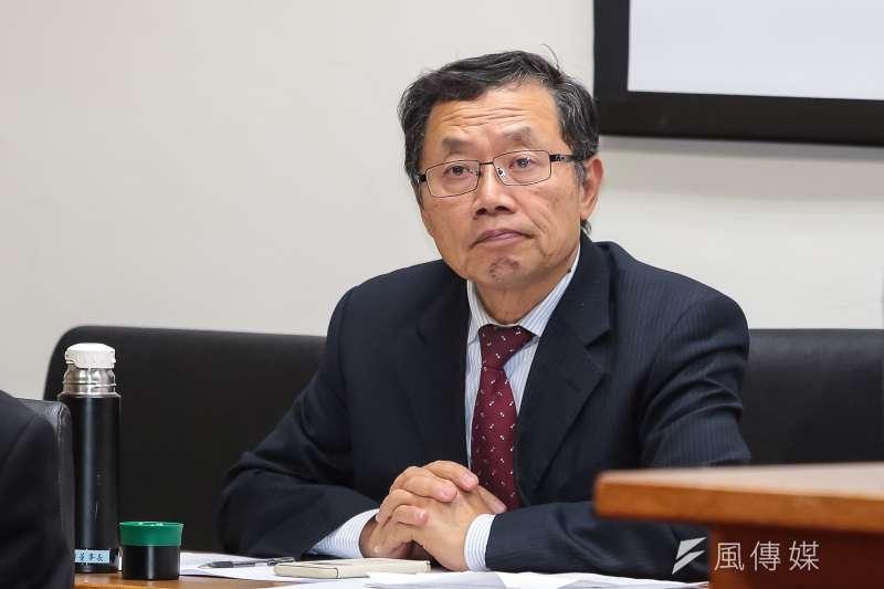 台水董事長郭俊銘列席立法院經濟委員會備詢。(顏麟宇攝)