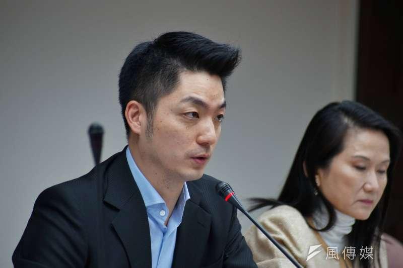 國民黨立委蔣萬安決定不選新北,民進黨祕書長洪耀福認為對國民黨祕書長吳敦義很傷。(資料照片,盧逸峰攝)