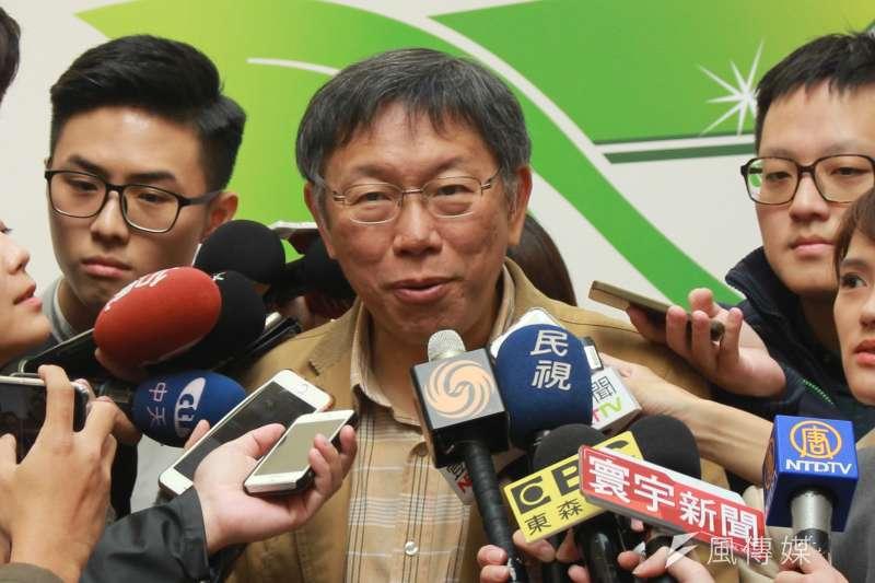 針對大彎北的違法商業宅問題,台北市長柯文哲表示,該罰還是要罰,但罰沒解決問題,還是會想辦法把問題解決。(方炳超攝)