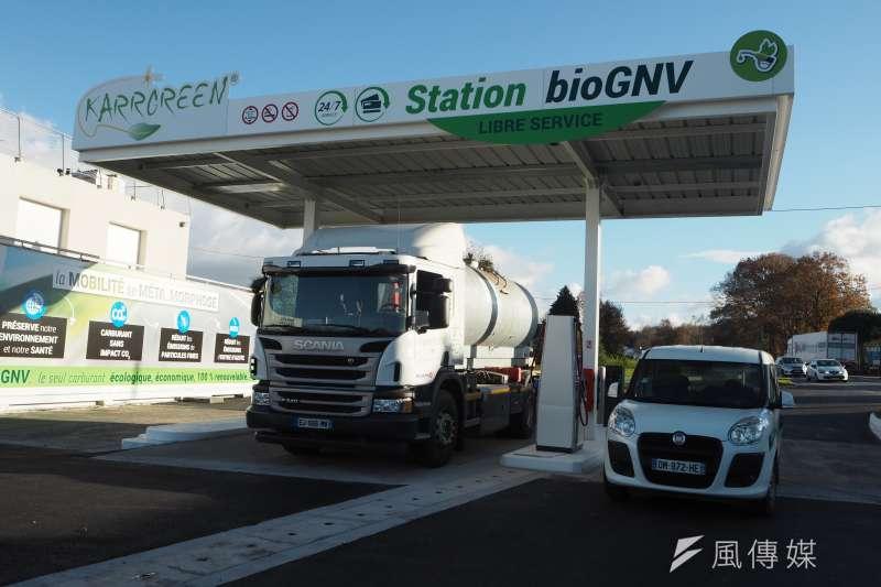 法國專題-由理傑生質燃料廠(Liger)所生產的生質瓦斯加油站(尹俞歡)