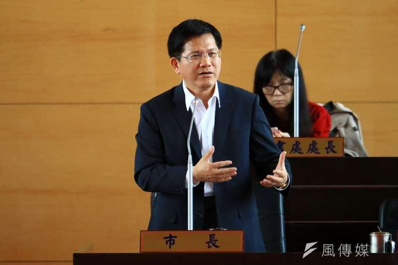 台中市長林佳龍積極面對空汙議題挑戰,施政滿意度及好感度獲得肯定。(圖/曾家祥攝)