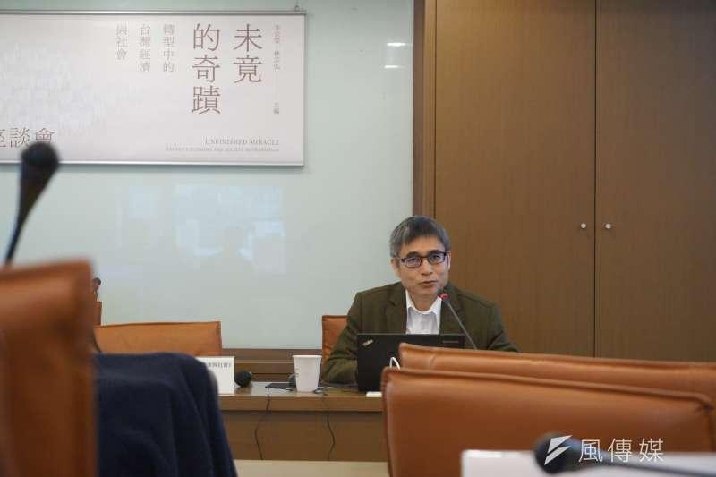 中研院社會所副研究員吳介民指出,中國現在正在進行的統戰商業化、審查商業化、經濟利益動機與政治目標的結合,是一種非常當代的、新興的中國現象。(陳子萱攝)