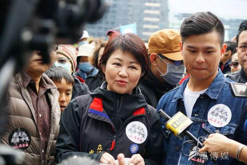 2017-12-17-反空污大遊行台中場,國民黨立委盧秀燕。(盧逸峰攝)