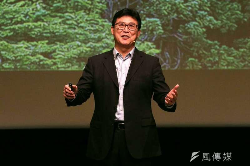 姚文智宣布參選台北市長說明會。(蘇仲泓攝)