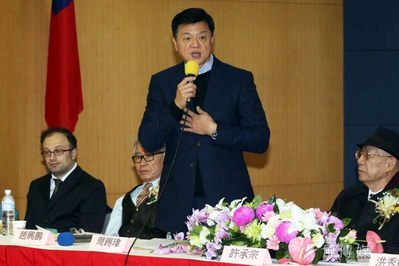 周錫瑋表示,絕對無法容忍「不藍不綠」,面對國民黨與中華民國存亡之秋,一步都不會讓。(資料照,蘇仲泓攝)