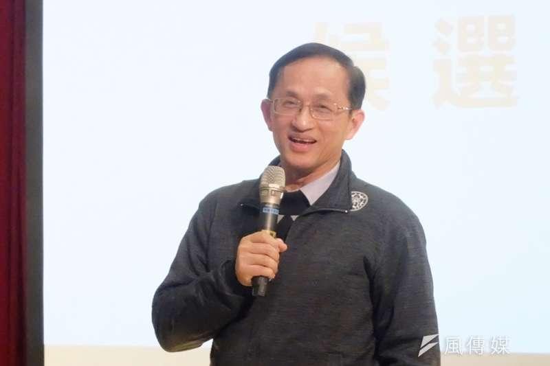 台大學生會主辦「校長,給問嗎」,台大校長參選人、台大電機系教授吳瑞北。(謝孟穎攝)