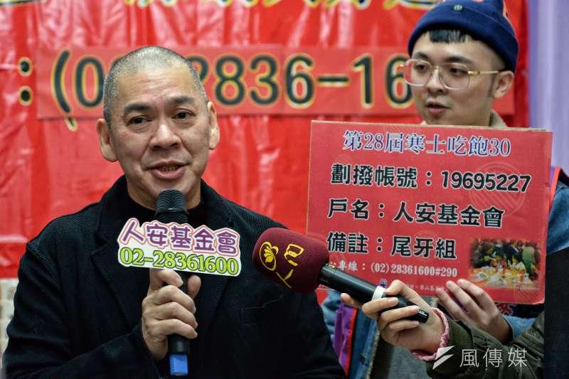 導演蔡明亮擔任人安基金會愛心大使。(甘岱民攝)