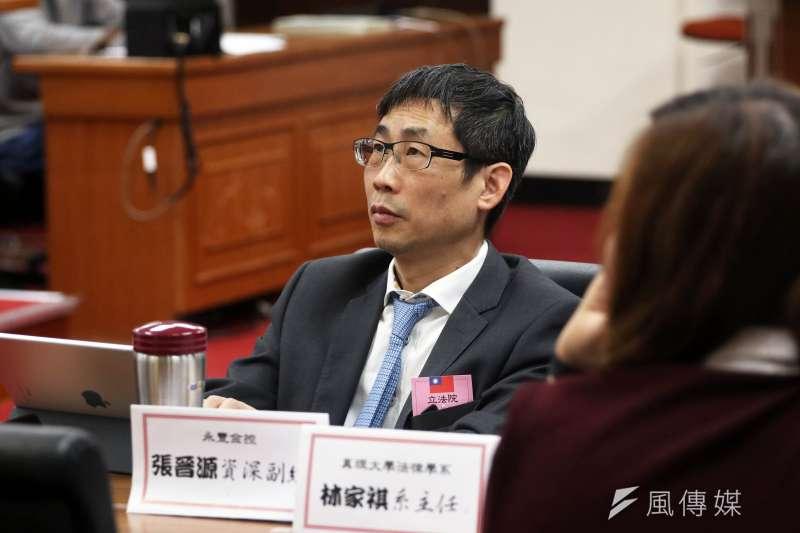 20171220-立法院經濟委員會下午舉行公司法公聽會,永豐金控資深副總張晉源出席與會。(蘇仲泓攝)