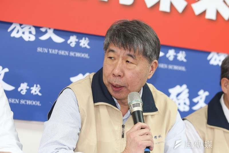 孫文學校總校長張亞中出席孫文學校舉辦「肅殺青年,台灣豈有未來?」記者會。(陳明仁攝)