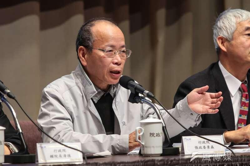 越南觀光客全團逃走中,負責新南向的政務委員張景森却說吃燒餅哪有不掉芝麻的。(資料照,顏麟宇攝)