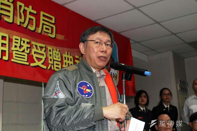 針對新黨發言人王炳忠表示不排斥選立委、市長,台北市長柯文哲表示,「選總統不是更有效?」 (蘇仲泓攝)