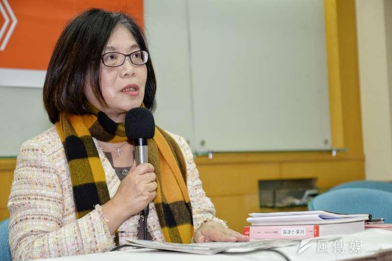 民進黨立委管碧玲22日回應《花媽心內話》記者會。(甘岱民攝)