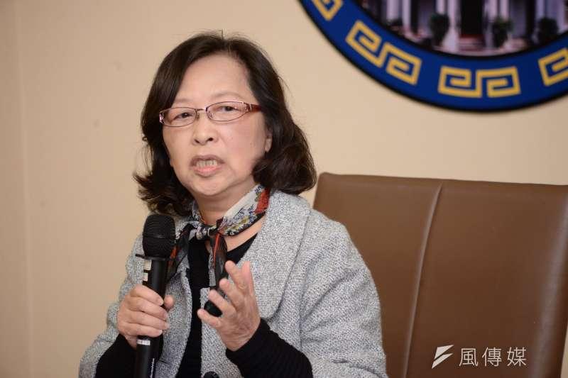 20171222-鹿窟事件記者會,監委楊美鈴。(甘岱民攝)