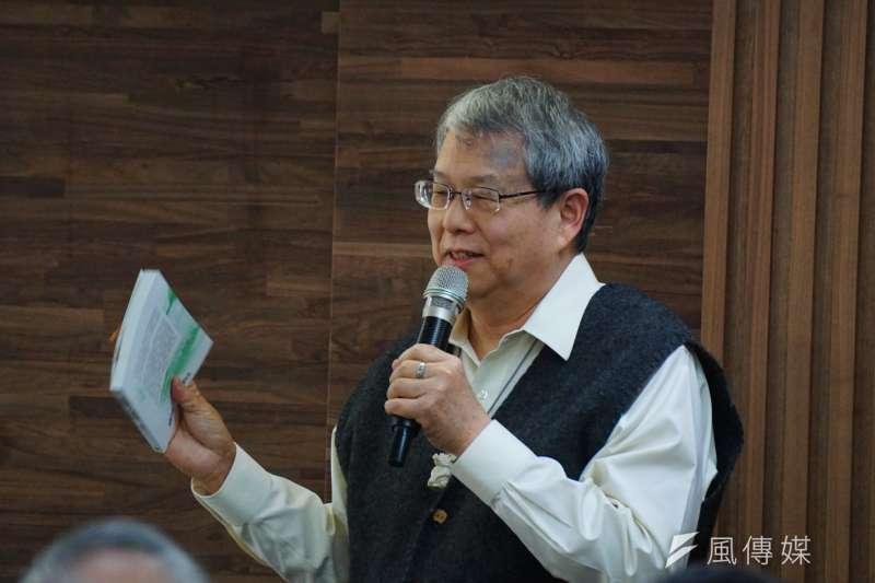 20171223-綠色逗陣新書發表會,作者陳師孟致詞。(盧逸峰攝)