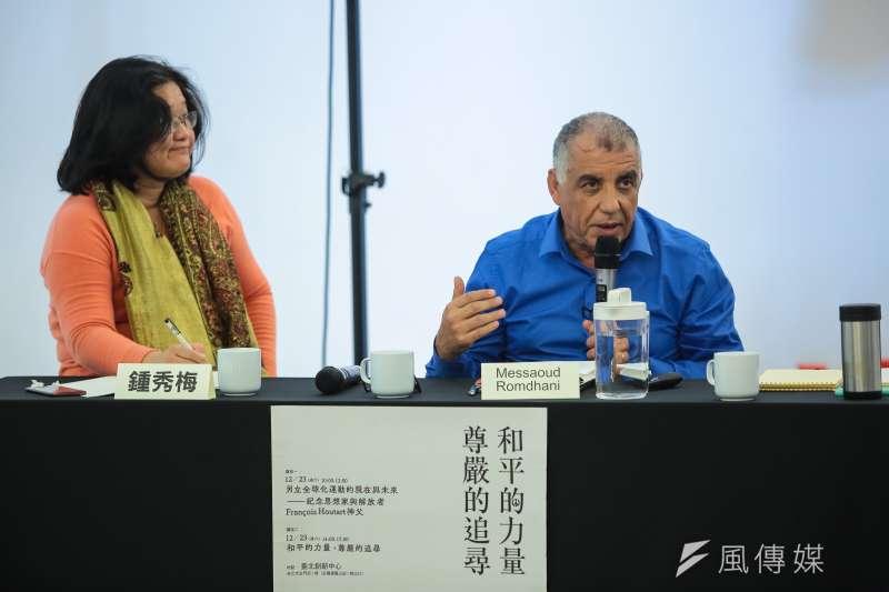 20171223-突尼西亞人權協會副主席Messaoud ROMDHANI(梅沙悟德‧荷穆達尼)23日出席「和平的力量,尊嚴的追尋」講座。(顏麟宇攝)