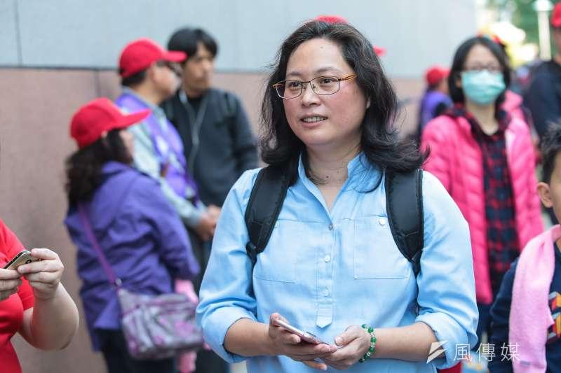 台北市勞動局今天公布第6次違反勞基法名單,共有119家業者挨罰,圖為台北市勞動局長賴香伶。(顏麟宇攝)