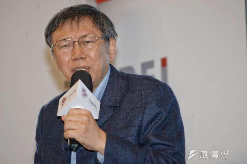 20171225-柯文哲執政三週年記者會。(甘岱民攝)