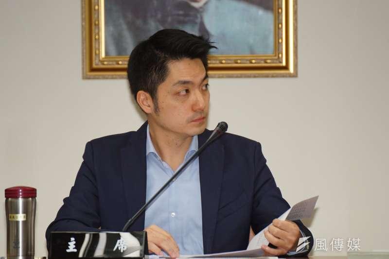 國民黨立委蔣萬安出席預算審查。(盧逸峰攝)