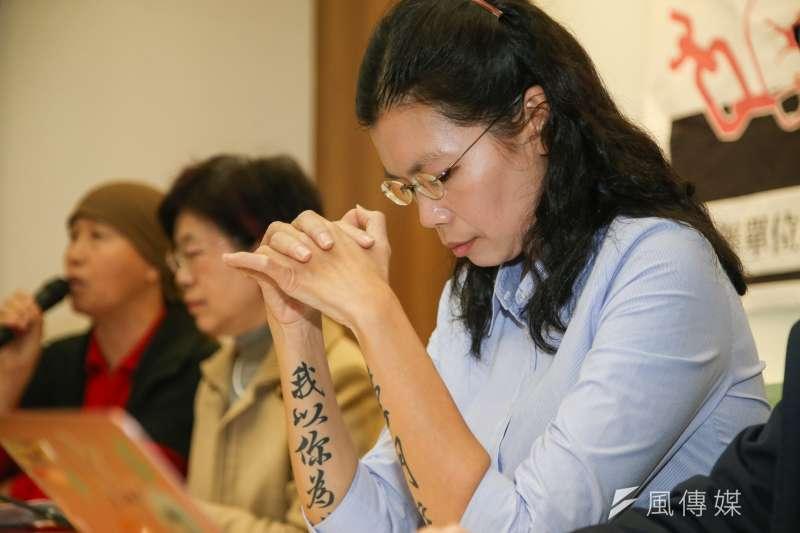 大陸委員會副主任委員兼發言人邱垂正今天證實,李明哲妻子李凈瑜(圖右)已獲准於12月17至18日赴湖南探監。(資料照,陳明仁攝)