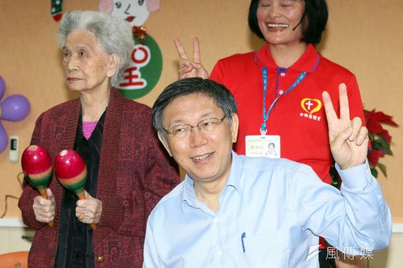 台北市長柯文哲回應送游泳池給桃園遭拒絕一事。(資料照片,蘇仲泓攝)