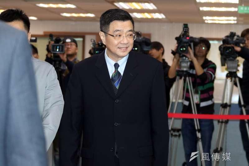 民進黨下午召開中執會,行政院秘書長卓榮泰出席。(蘇仲泓攝)