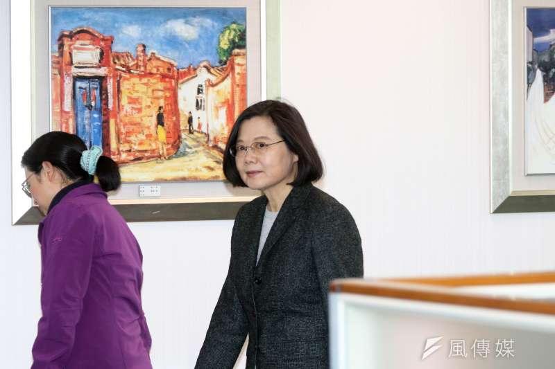 20171227-民進黨下午召開中執會,黨主席蔡英文出席。(蘇仲泓攝)