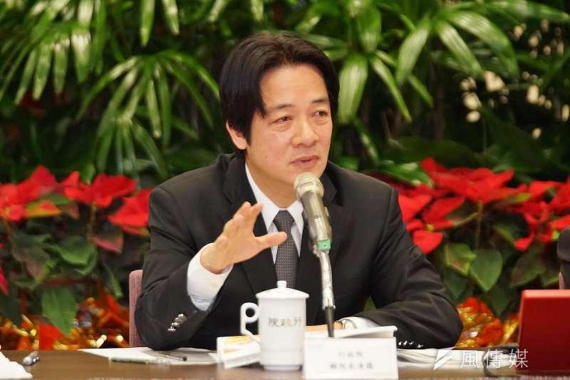 行政院長賴清德口頭指示行政院內部,未來若談及中國相關作為與公文往返時,不再以中國「惠台」描述,須改用「對台」作為措辭。(資料照,盧逸峰攝)