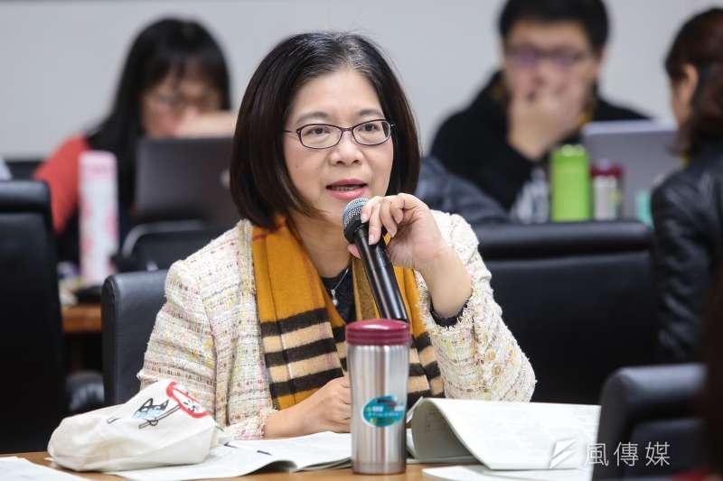 20171227-民進黨立委管碧玲27日出席經濟委員會審查礦業法。(顏麟宇攝)