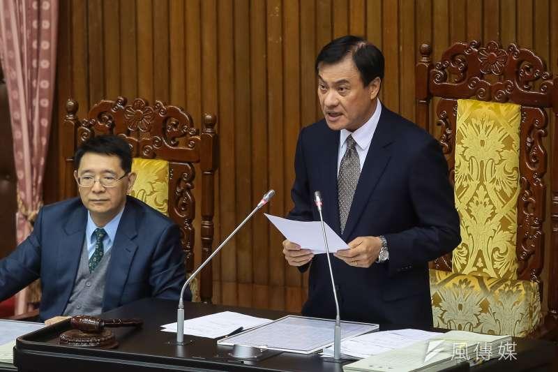 立法院長蘇嘉全29日主持第四會期最後一次院會。(顏麟宇攝)