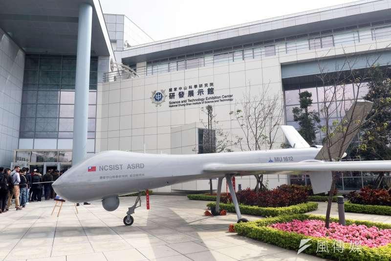 知情官員表示,美製飛彈有系統整合和最終使用權問題,「騰雲」無人機確定不會掛載美製「地獄火」或「刺針」飛彈。圖為騰雲無人機。(資料照,蘇仲泓攝)