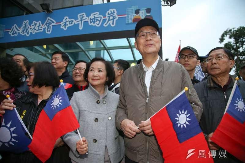 國民黨主席吳敦義夫人蔡令怡(左)曾為婦聯會有意捐出房產而怒批婦聯會總會。(資料照,陳明仁攝)