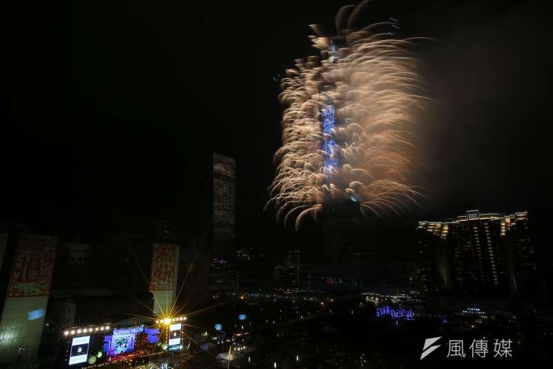 20180101-台北101跨年煙火。(顏麟宇攝)