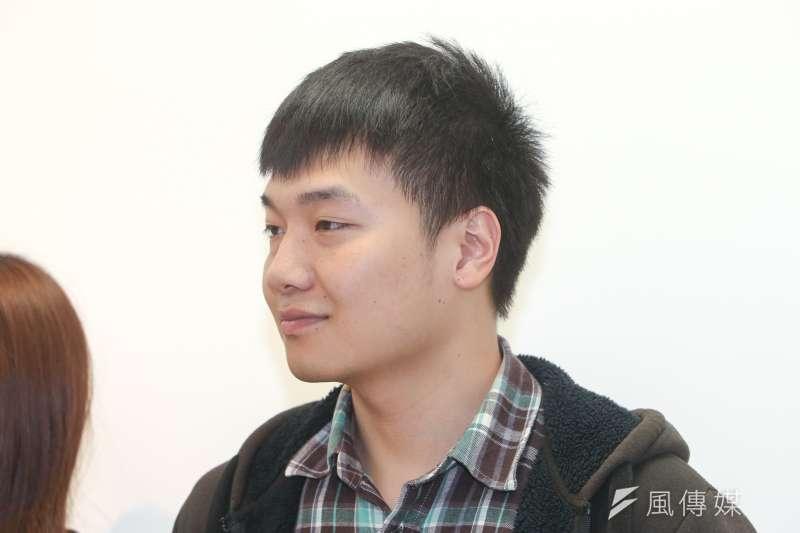 台北市議員王鴻薇法案助理楊植斗,台北市長參選人丁守中競選辦公室發言人。(陳明仁攝)
