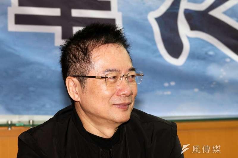 國民黨前政策會執行長蔡正元因三中案今日遭起訴。(蘇仲泓攝)