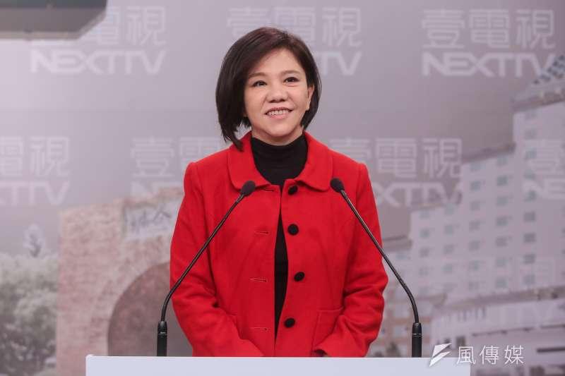 民進黨台南市長初選候選人葉宜津在政見會上提出廢注音符號。(顏麟宇攝)