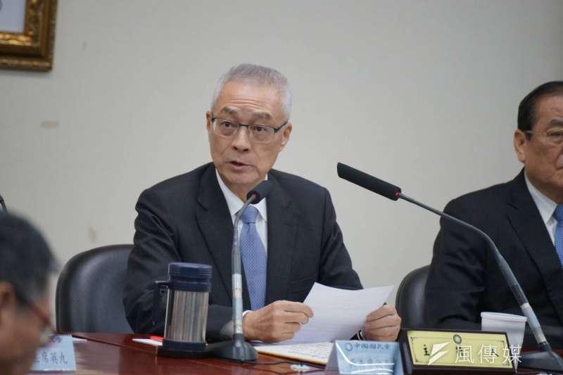 對於地方大選的黨內初選,國民黨主席吳敦義表示,如果黨內有多人競逐,一定要經過初選全民調的過程。(盧逸峰攝)