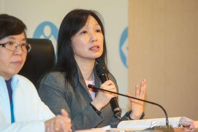 20180110-勞動部勞動條件及就業平等司長謝倩蒨10日出席勞動部記者會。(顏麟宇攝)