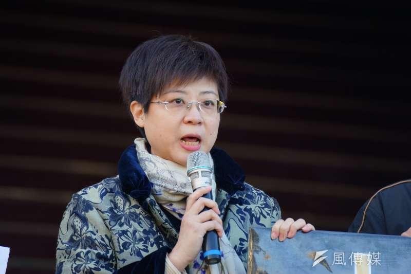 20180110-戴立紳揭弊免職案聲請釋憲,交通大學教授林志潔發言。(盧逸峰攝)