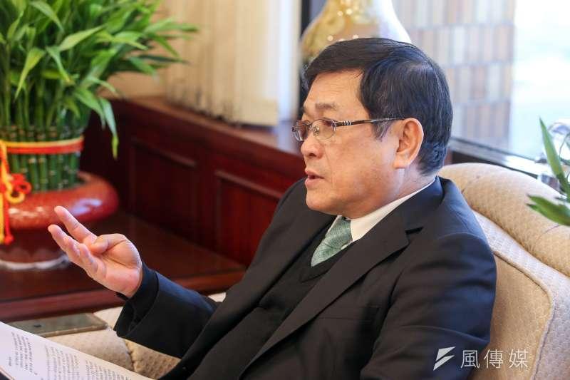 20180110-台電董事長楊偉甫專訪。(陳明仁攝)