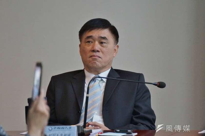 20180110-國民黨副主席郝龍斌出席國民黨中常會。(盧逸峰攝)