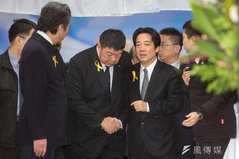 20180111-行政院長賴清德11日出席親民黨主席宋楚瑜母親胡窕蓉女士追思告別式。(顏麟宇攝)