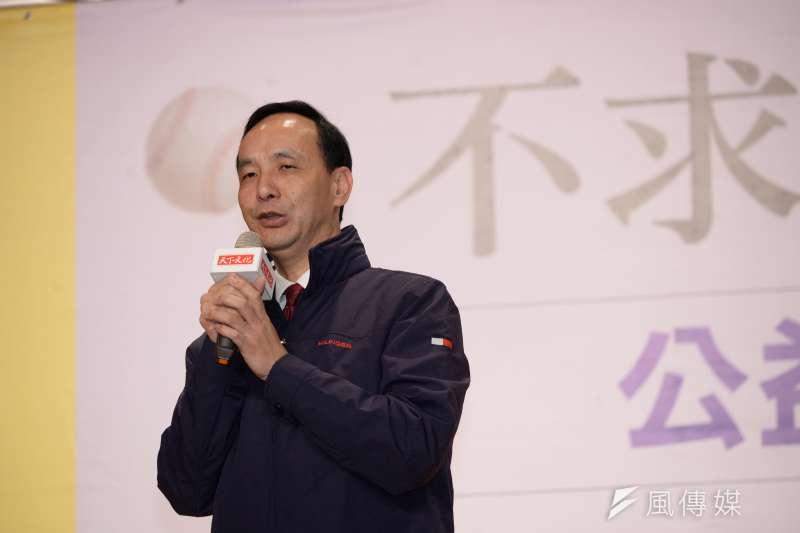 20180113-陳金鋒公益贈書活動,朱立倫出席。(甘岱民攝)