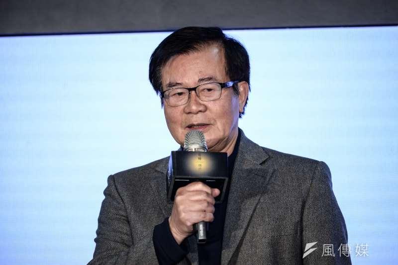20180113-島嶼傳燈人紀錄片特展,中華文化總會副會長江春男。(甘岱民攝)