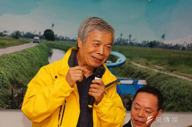 20180115-學術界支持農田水利會改制記者會,陳世雄前校長發言。(盧逸峰攝)