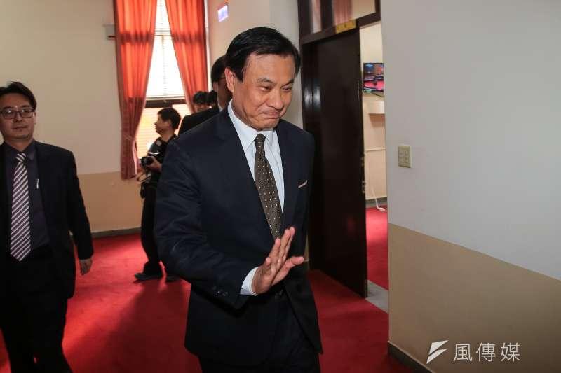 立法院長蘇嘉全16日針對「農田水利會組織規則」審查,進行協商。(顏麟宇攝)