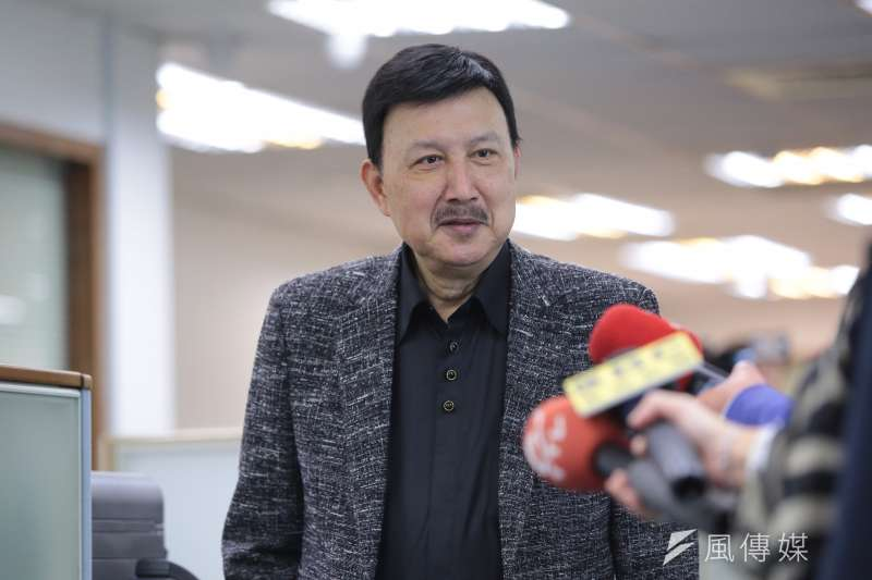 新北市黨部主委余天17日出席民進黨中常會。(顏麟宇攝)