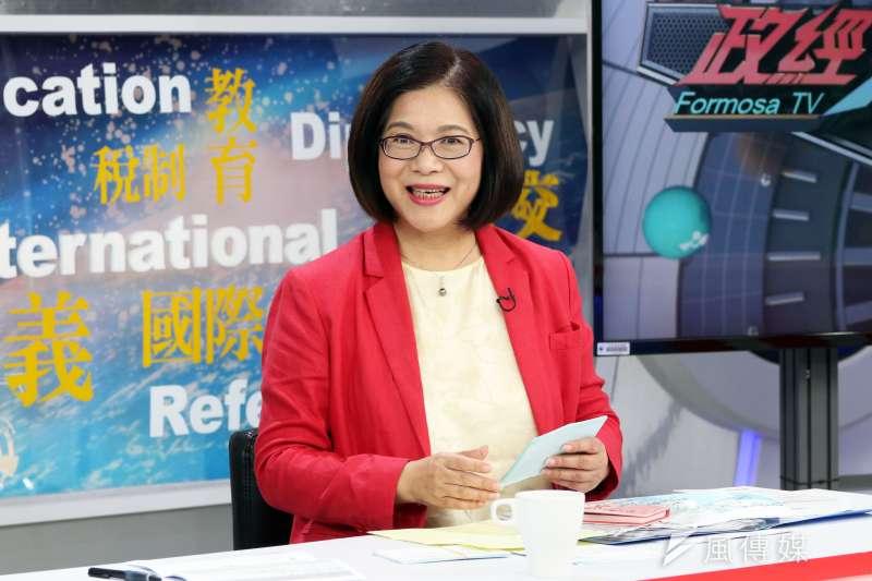 民進黨高雄市長初選27日舉行第二場政見發表會。圖為管碧玲。(資料照/蘇仲泓攝)
