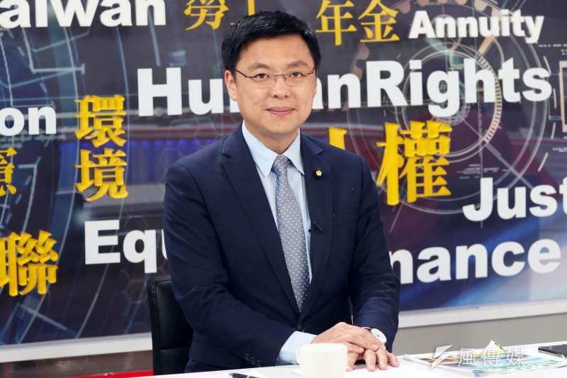 民進黨立委趙天麟18日參加民視舉辦的高雄市長黨內初選辯論會。(資料照/蘇仲泓攝)
