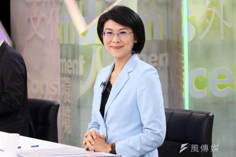 20180118-民視舉辦民進黨高雄市長黨內初選辯論會,林岱樺。(蘇仲泓攝)