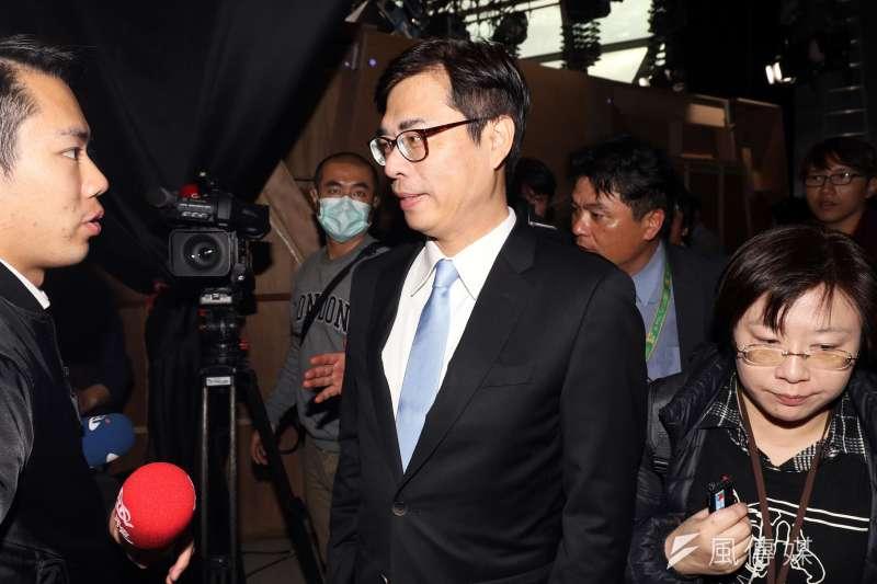 20180118-民視舉辦民進黨高雄市長黨內初選辯論會,陳其邁。(蘇仲泓攝)
